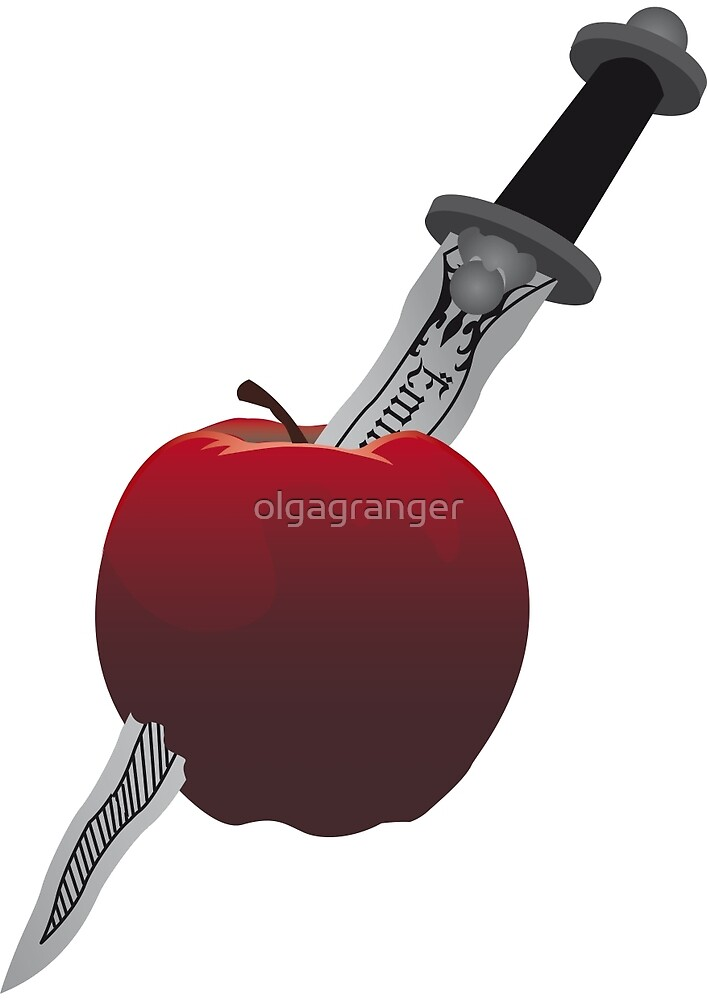 SwanQueen apple and dagger by olgagranger