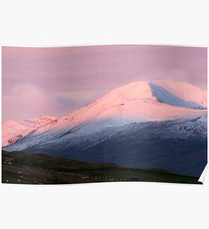 Pre Dawn colours over Meall Nan Tarmachan (viewd 476 times at 11/01/13) Poster
