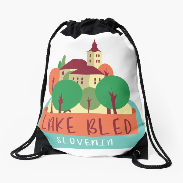 Lake Bled - Slovenia Drawstring Bag