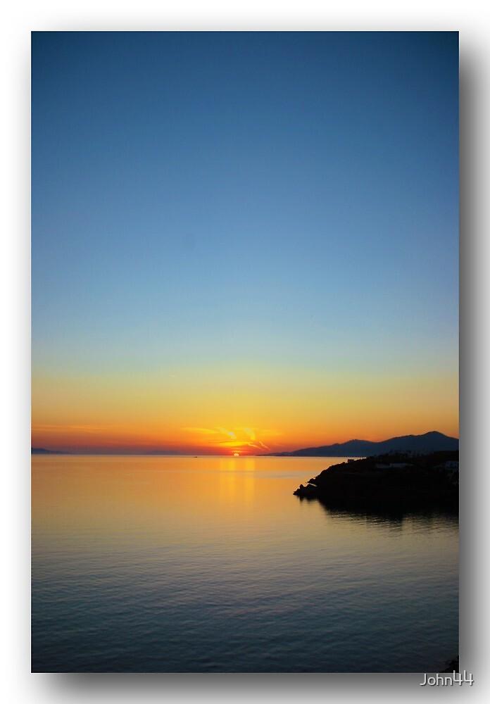 Sunset in Greece by John44
