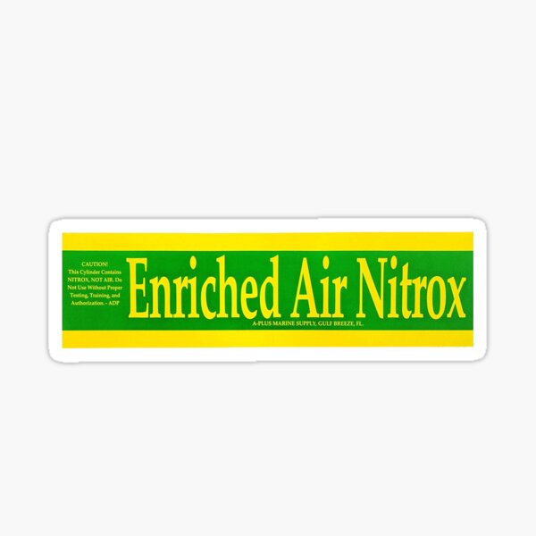 Nitrox Dive Label Apparel Sticker