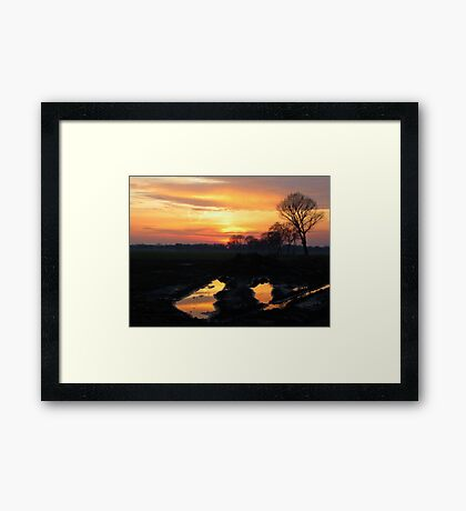 Sunset Color reflections Framed Print