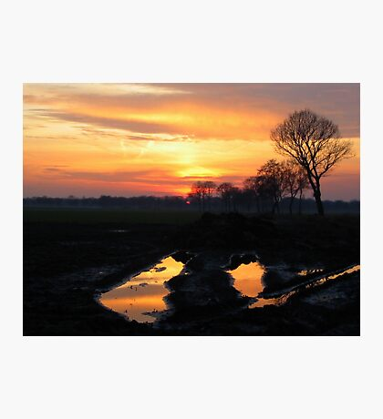 Sunset Color reflections Photographic Print