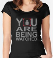 Person of Interest - You Are Being Watched Women's Fitted Scoop T-Shirt