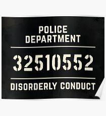 Mugshot sign Poster