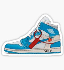 OFF-WHITE UNC Jordan 1 Illustration Stickers & Prints Sticker