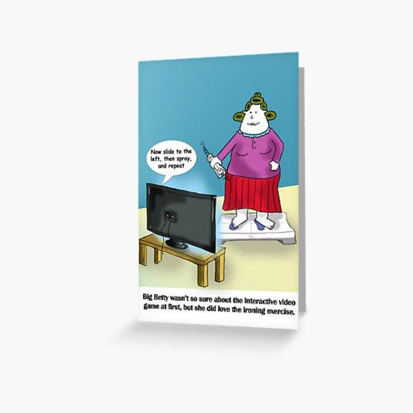 Big Betty Training Greeting Card