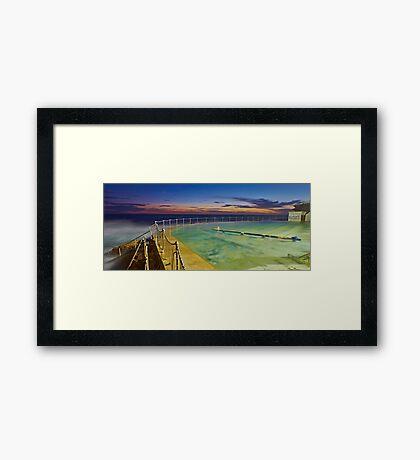 Sunrise Swim Framed Print