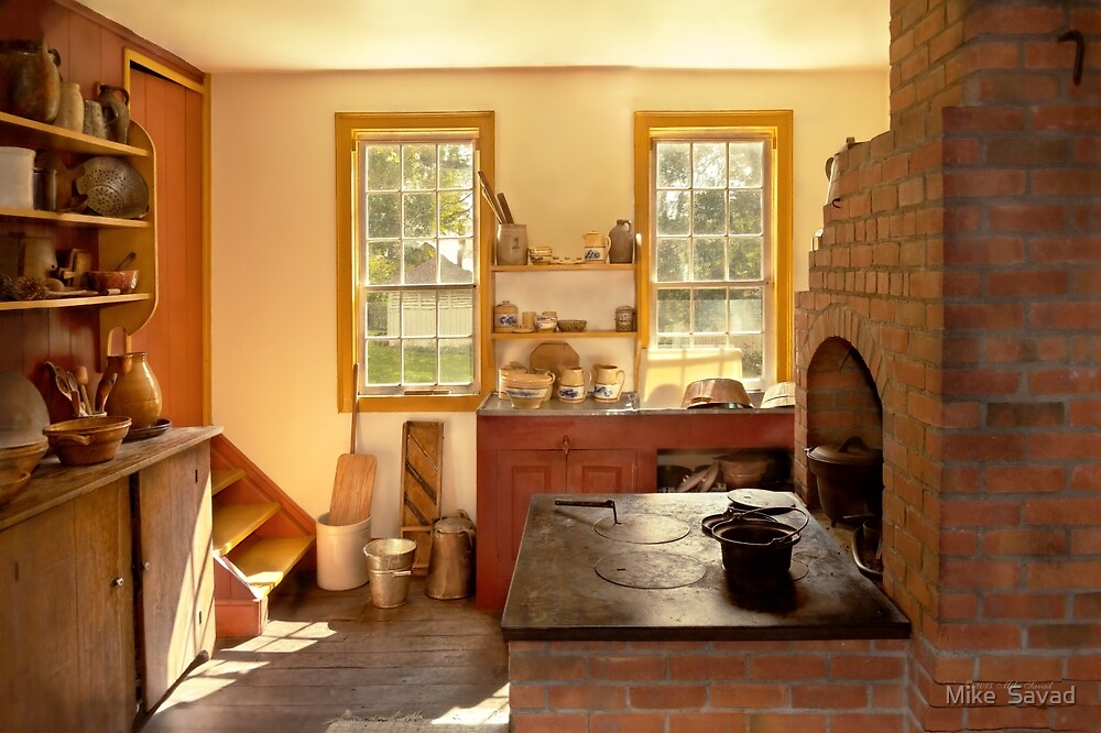Kitchen - An 1840's Kitchen by Michael Savad