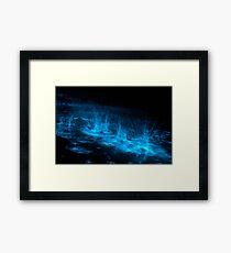 Bioluminescent Splashes Framed Print