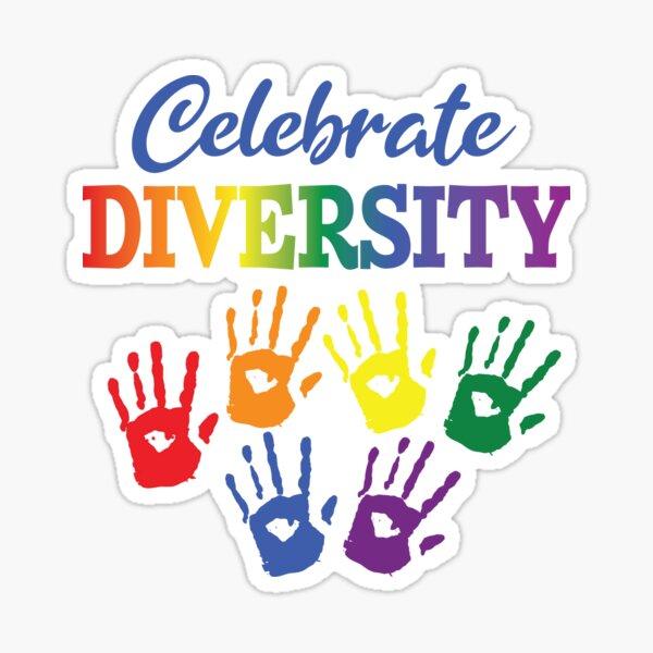 'Celebrate Diversity' (White) Sticker
