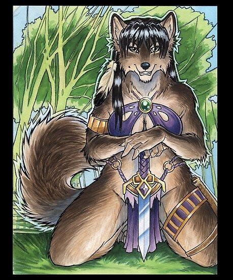 Forest Werewolf  by cybercat