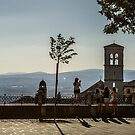 Late Afternoon Onlookers in Assisi by MarcW