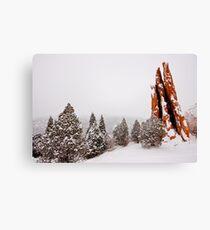 Snow on the Three Graces Canvas Print