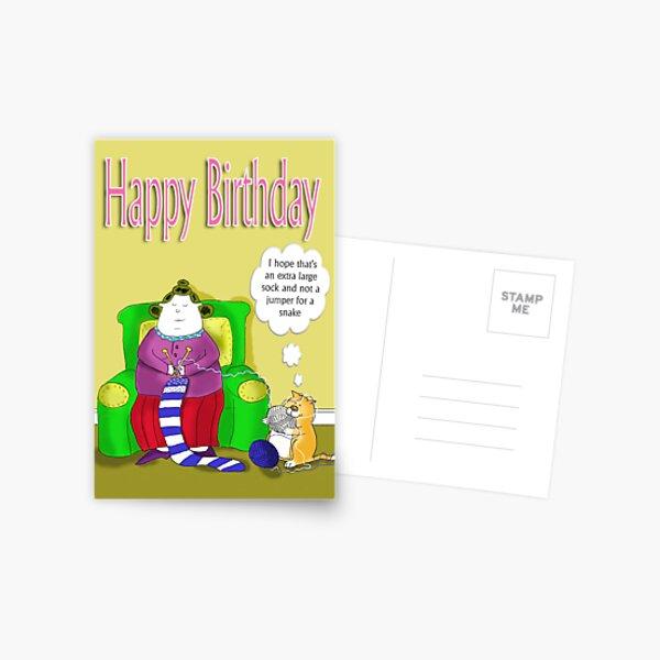 Big Betty's big sock, happy birthday Postcard