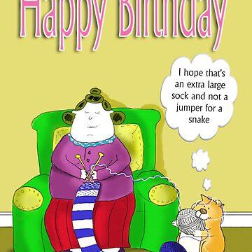 Big Betty's big sock, happy birthday by bunty