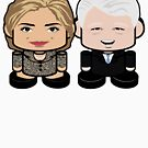 Clintons: Greater Together Politico'bot Toy Robots by Carbon-Fibre Media