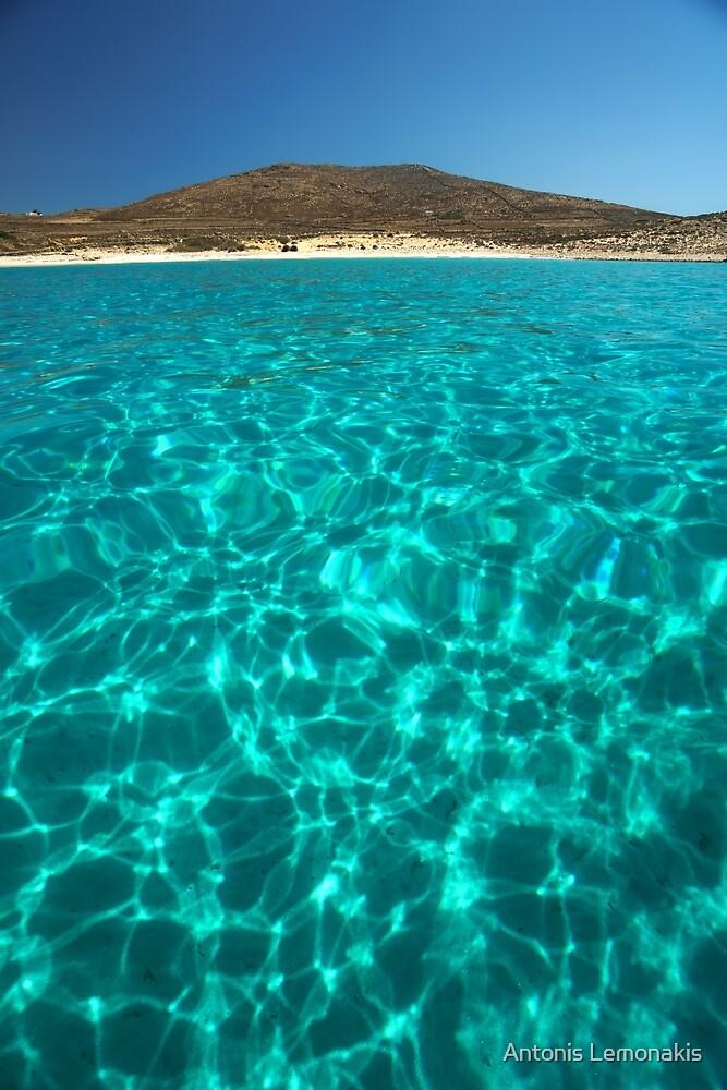 Bay in Rinia, Mykonos, Greece 2 by Antonis Lemonakis
