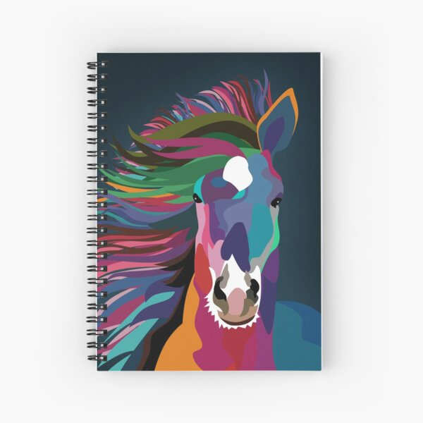horse running Spiral Notebook