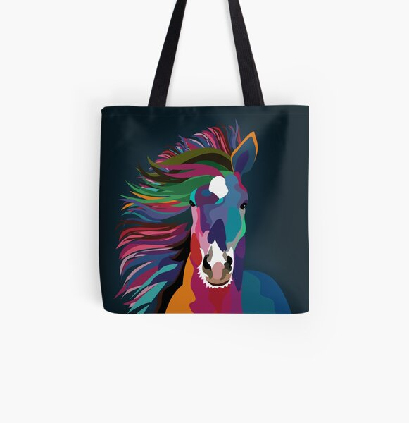 horse running All Over Print Tote Bag