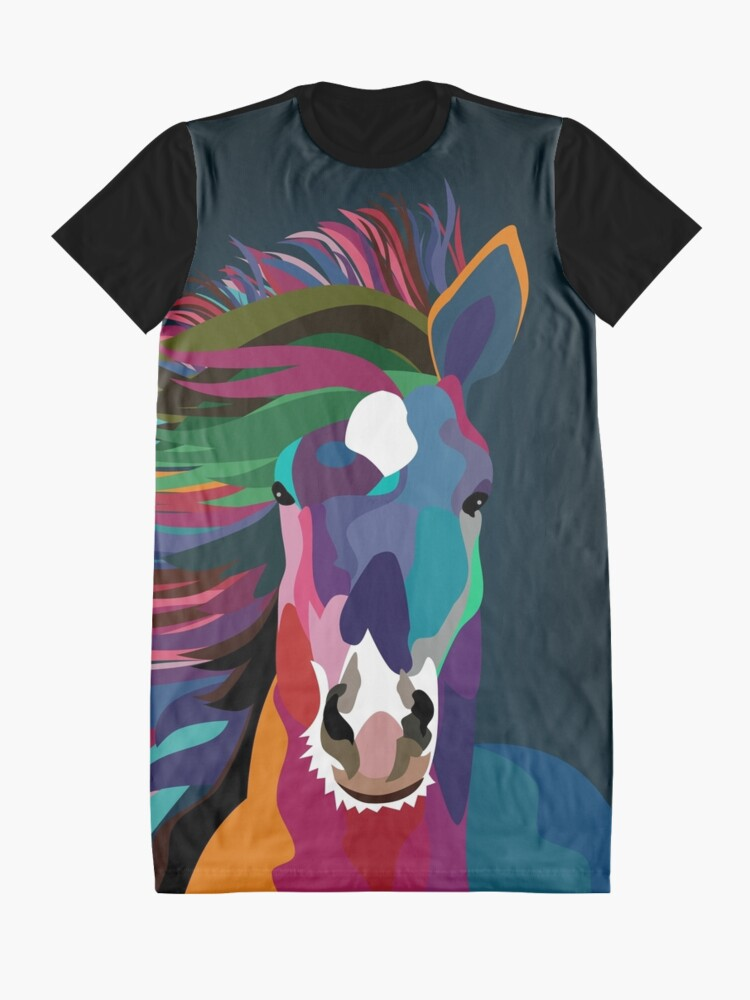 Alternate view of horse ruining  Graphic T-Shirt Dress