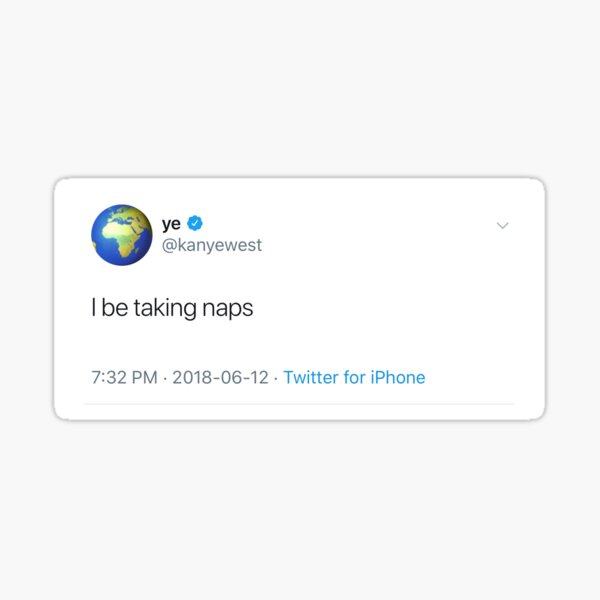 Ye tweet Sticker