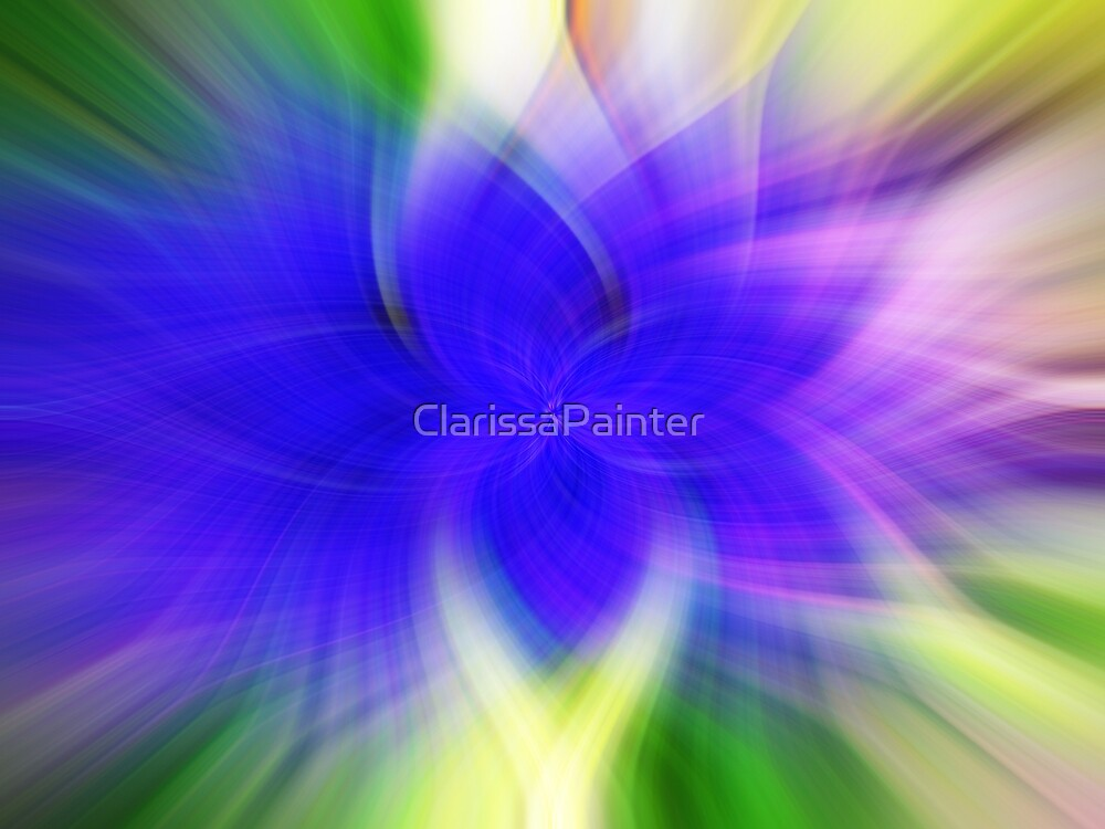 Blue abstract tye dye by ClarissaPainter