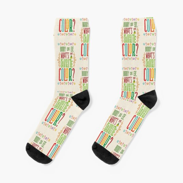 Buddy the Elf - What's Your Favorite Color? Socks