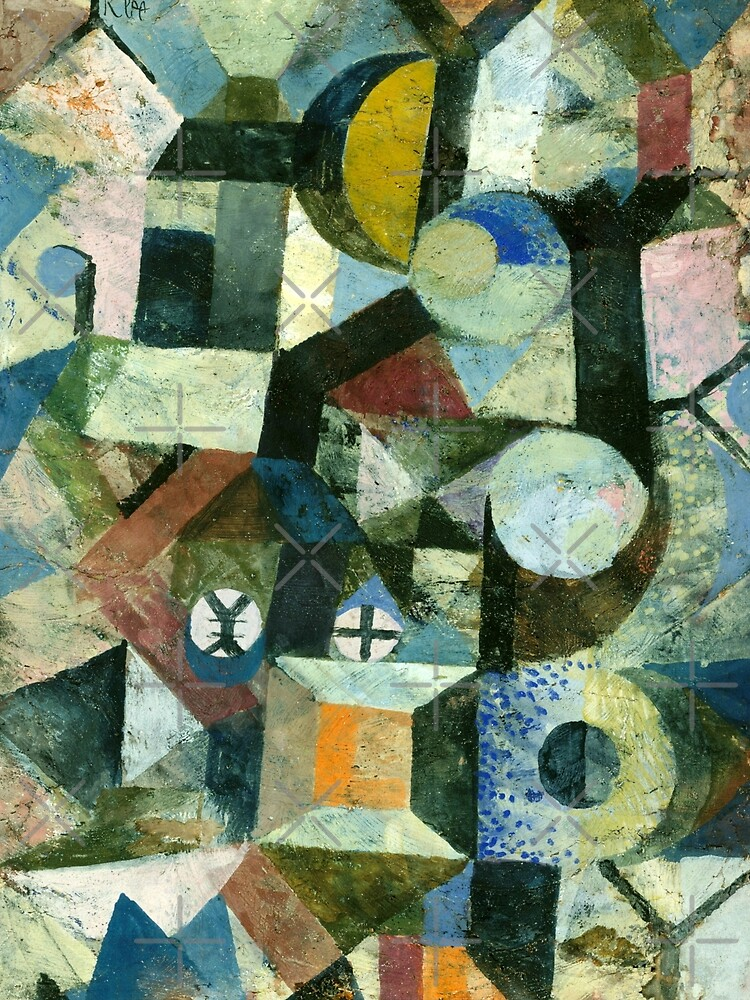 Paul Klee   Composition with the Yellow Half-Moon and the Y by Gascondi