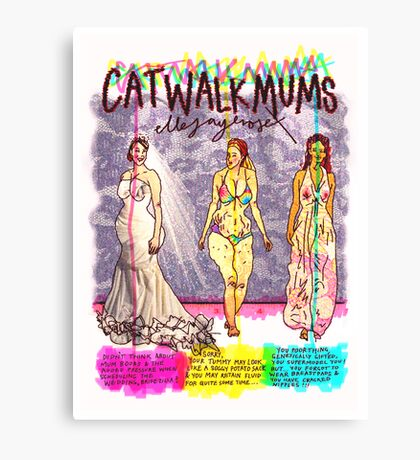 Pregnancy: Catwalk Mums Canvas Print