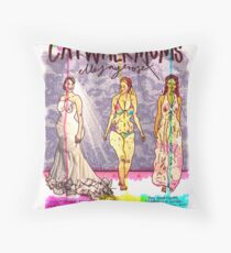 Pregnancy: Catwalk Mums Throw Pillow