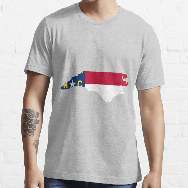 North Carolina outline with flag Essential T-Shirt