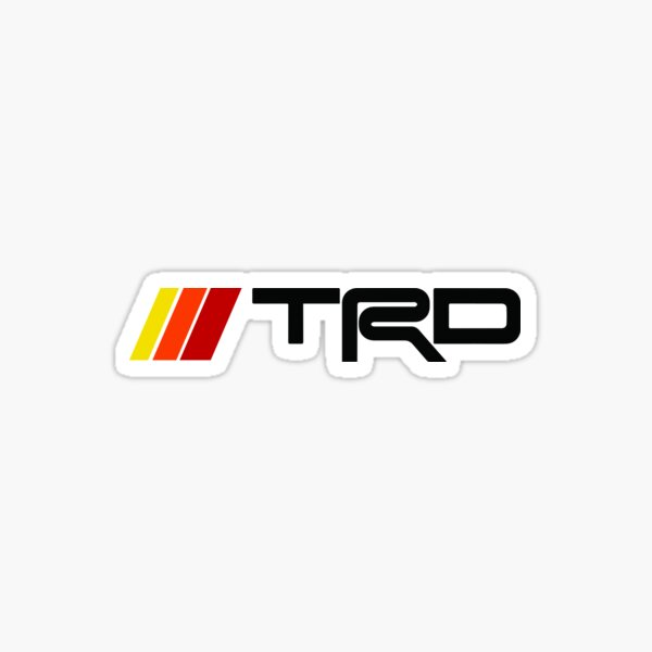 Toyota TRD Pro 4Runner Retro Stripes Badge Toyota Vintage SR5 TRD Pro 5th Generation Sticker