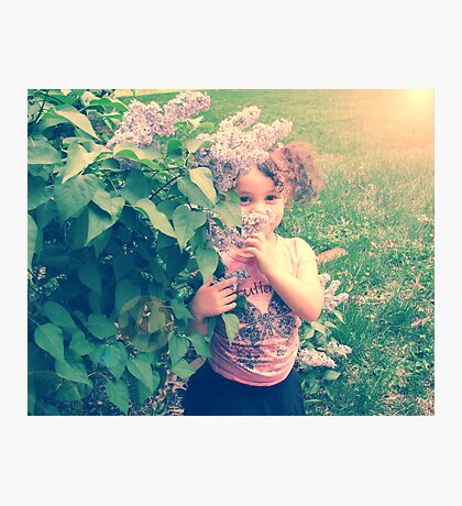 girls are made of lilacs and butterfly kisses Photographic Print