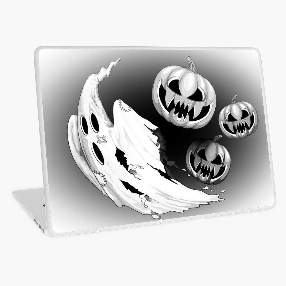 Ghost and Pumpkin funny Nightmare Escape Laptop Skin