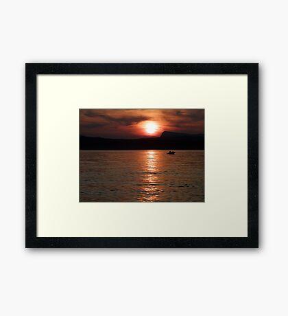 Done Fishing Framed Print