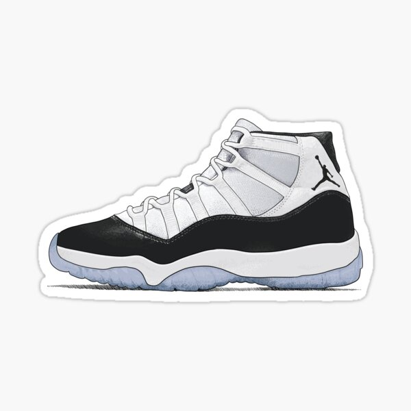 Jordan 11 Concord Illustration Stickers et impressions Sticker