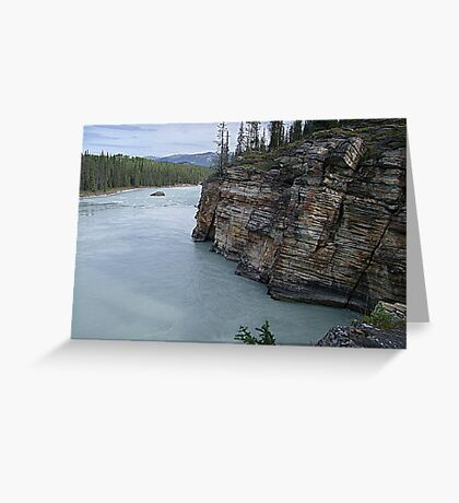 Outflow of Athabasca Falls Greeting Card