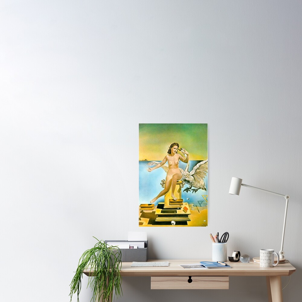 Leda Atomica is a painting by Salvador Dalí, made in 1949 Poster