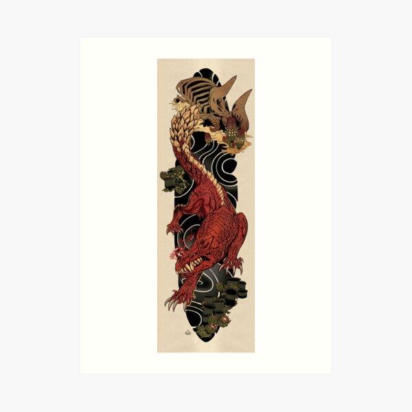 Odogaron Japanese Sleeve Tattoo Art Print