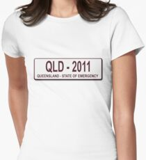 Queensland 2011 Number Plate Women's Fitted T-Shirt