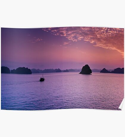 Halong Bay Sunset Poster