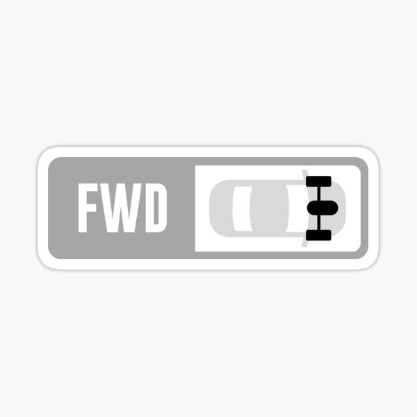 Front Engine FWD - Forza Drive Train Sticker