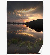 Sunset at Ranthambore Park Poster