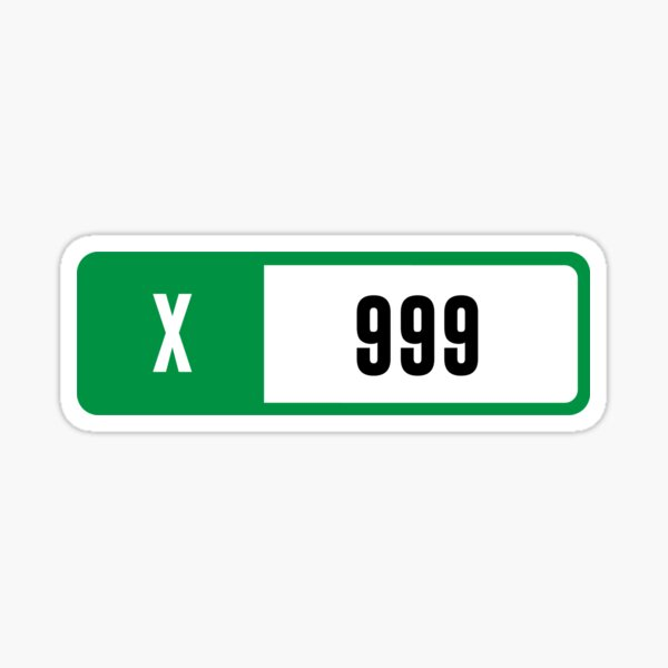 X 999 - Forza Performance Index Sticker