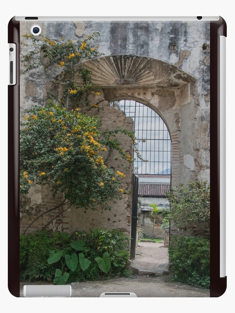 New Life by Old Wall and Gate in Antigua, Guatemala by Gerda Grice