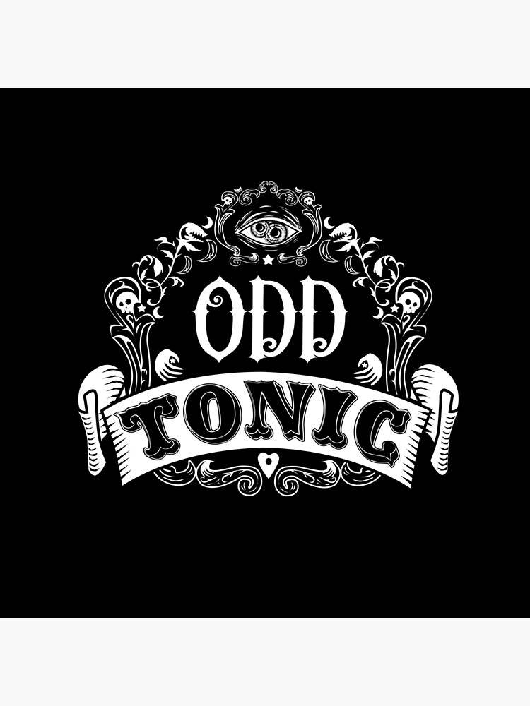 Odd Tonic Official Logo - PRINT ON BLACK by OddTonic