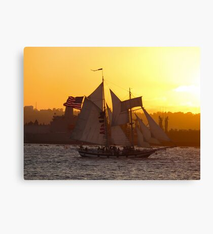 Sailing in to the Sunset Canvas Print