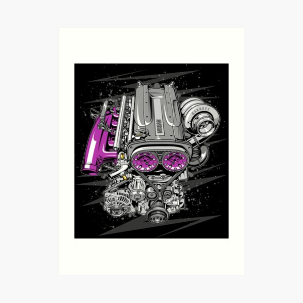 Nissan RB26 engine Art Print