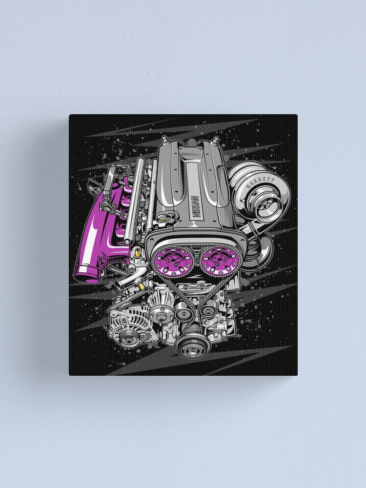 Alternate view of Nissan RB26 engine Canvas Print